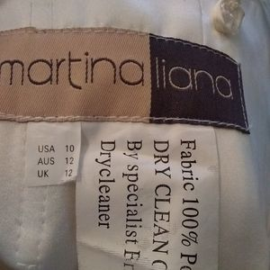 Martina Liana Dresses - Martina Liana knee length lace wedding dress sz 10